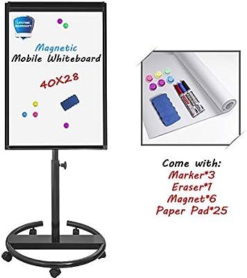 Amazon.com: Tabla de borrado en seco magnética, con soporte ...