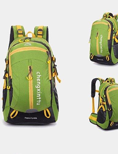 GXS Outdoor Sports Bergsteigen Tasche Damen und Herren Reisetasche Wasserdicht Nylon Schultertasche schwarz - schwarz