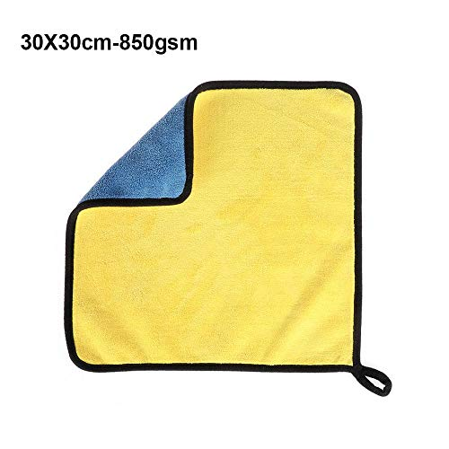 Super Absorbent Car Wash Towel Microfiber Coral Velvet Car Care Polishing Thick Plush Drying Cloth Window Cleaning 30X30cm-850gsm