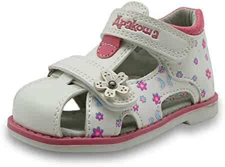 e243040a3f5a Tuoup Leather Floral Cute Butterflies Girls Toddler Sandals for Kids