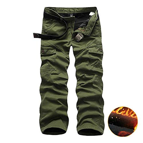 Puro Ispessimento Casual E Erba Inverno Casual Tuta Versatile Da Uomo Più Velluto Semplice Autunno Pantaloni Colore Jbldy Verde IvAgg