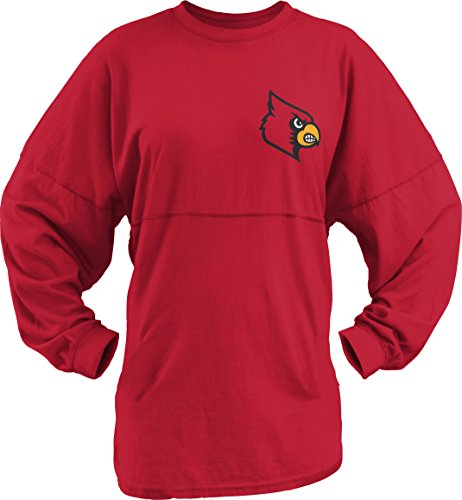 Three Square by Royce Apparel NCAA Louisville Cardinals Junior's Big Time Outline Sweeper, Large, ()