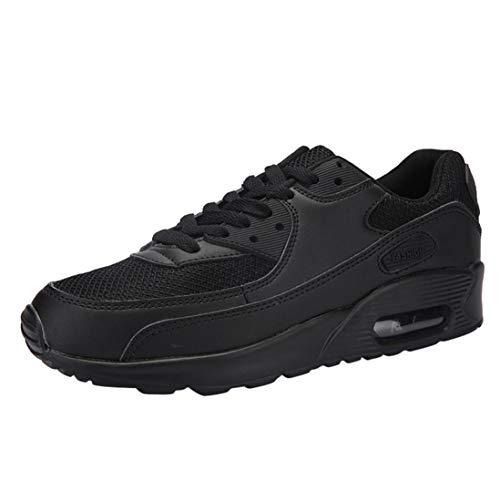 Chaussures De Casual Sport Couple Sneaker Voyage Course Coussin Dayseventh Gym Noir tudiant Air twpCICq