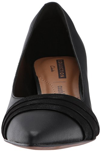 CLARKS Womens Crewso Madie Dress Pump, Black, 8 W US