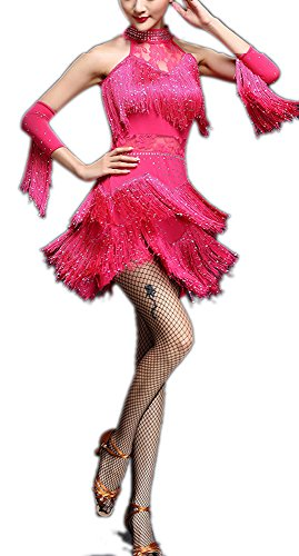Celebrity Halloween Outfit (Fringe Funny Halloween Celebrity Stage Dance Costumes Dress for Adults)