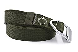 Nonwe Casual Outdoor Adjustable Waistband 1.5-Inch Belt with Aluminum Buckle 000840M