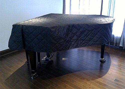 Yamaha GB1K Piano Cover 5'0'' - Quilted Black Nylon with Side Splits