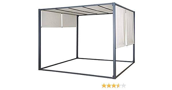 Jet-Line Safaga - Carpa de 3 x 3 m, Cubierta Beige pérgola protección Solar UV para jardín, terraza