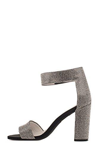 Women's Sandals Polyester JCS33190510SAT Silver Campbell Jeffrey 15q6SXwZ