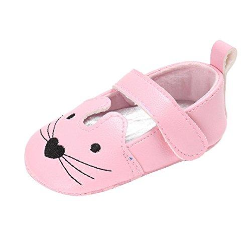 Hunpta Kleinkind Baby Mädchen Katze Krippe Schuhe Soft Sohle Anti-Rutsch-Turnschuhe Rosa