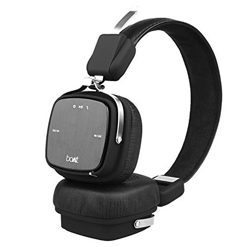 boAt Rockerz 610 Bluetooth Headphone with Luxurious Sound, Plush Earcushions, Foldable Ergonomic Design and Up to 8H Playtime (Black)