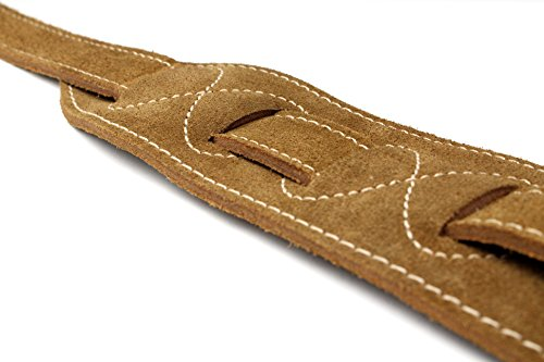 Black Perris Leathers P25SLB-202 Soft Suede Guitar Strap Electric and Bass Guitars Lightning Bolt Acoustic 2.5//44.5 x 53