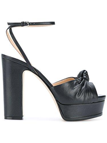 Sergio Rossi Vrouwen A78750mnan07 Zwart Lederen Sandalen