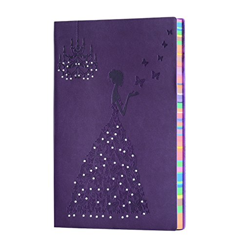 Diary Notebook,SEEHAN Leather Notebook A5 Meeting Book,Lined