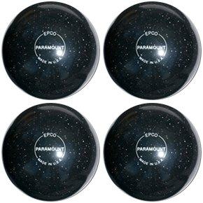 EPCO-Duckpin-Bowling-Ball-Speckled-Houseball-Black-4-Balls
