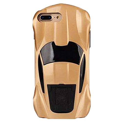 SGVAHY 3D Car Model Phone Case for iPhone 7/8, Cool Funny Sport Car Shape Design [Kickstand Feature]PC Plastic Hard Shell Protective Case for iPhone 7/8. (Gold, iPhone -