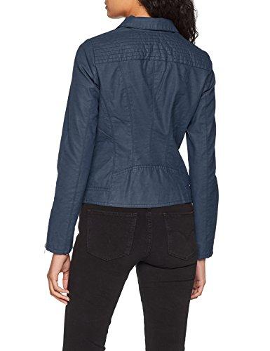 Chaqueta Onlsaga Insignia para CC Leather Azul Otw Faux Blue Biker Insignia Only Mujer Blue dYAqw6axa