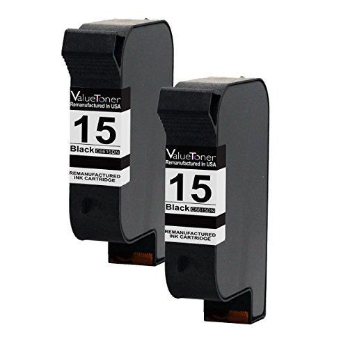 15 Compatible Remanufactured Inkjet Cartridge (Valuetoner Remanufactured Ink Cartridge Replacement for HP 15 C6653BN C6615DN (2 Black) Compatible for HP Deskjet 810 812 825 840 841 842 843 845 HP Fax 1230 HP Officejet V40 5110 HP PSC 500 750 950)