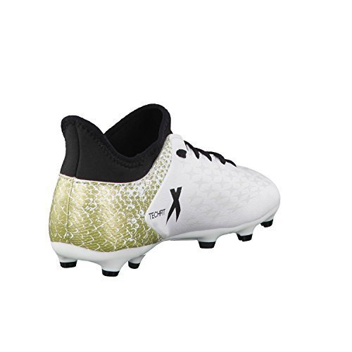16 De 3 Adidas Fg ftwr Black White core Blanc Mixte Enfant Chaussures Football X gold Metallic 1w55qnB