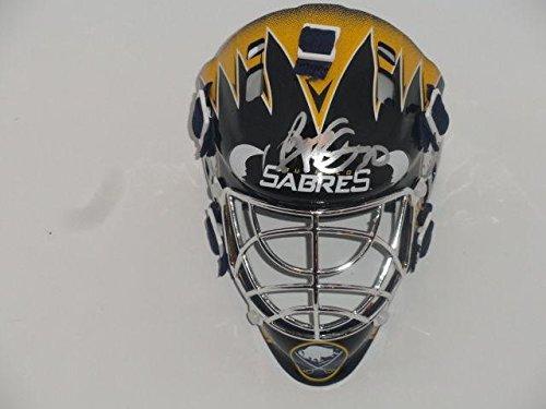 Ryan Miller Signed Buffalo Sabres Mini Goalie Mask Helmet Proof - Autographed NHL Mini Helmets (Autographed Ryan Miller)