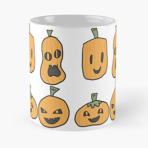 Pumpkin Carving Halloween Spooky - 11 Oz White -coffee Mug- Unique Birthday Gift-the Best Gift For Holidays.
