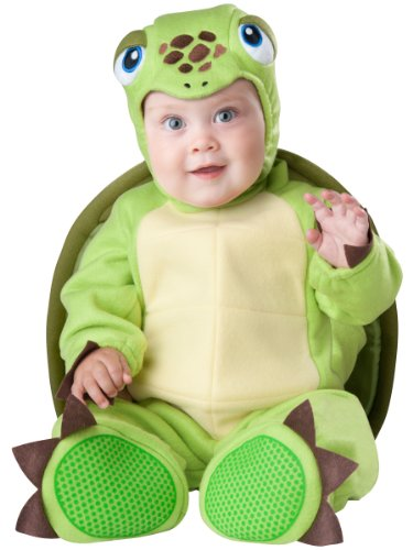 InCharacter Baby's Tiny Turtle Costume, Green, Small ()