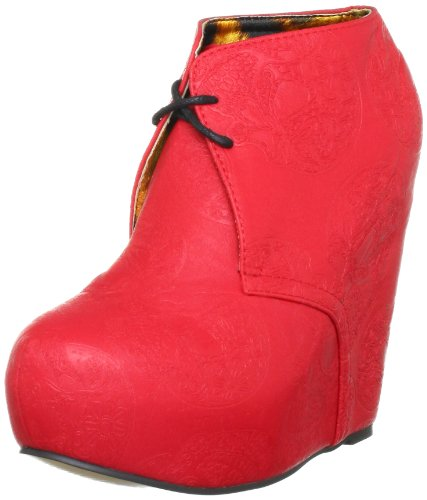 Iron Fist Tigre Wedge-red, Damen Halbschuhe Rot (Red)