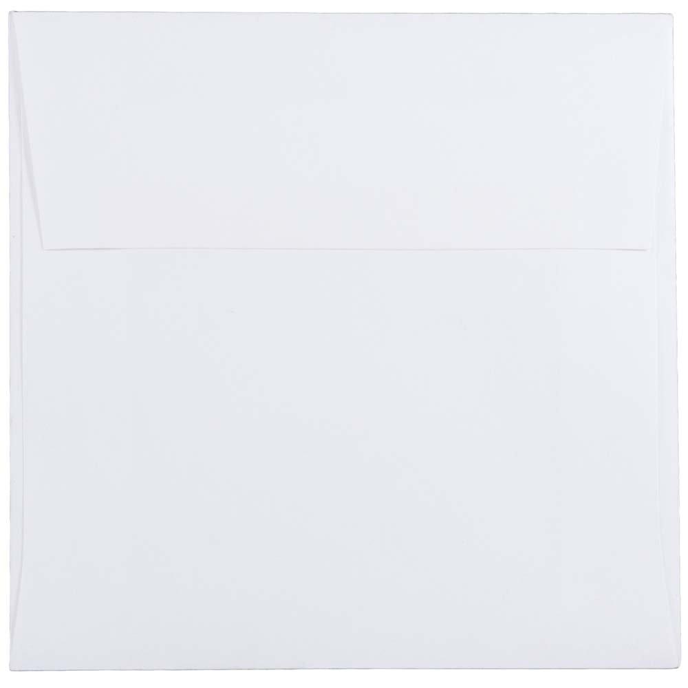 JAM PAPER 5 1/2 x 5 1/2 Square Invitation Envelopes - White - 25/Pack