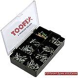 600 Pieces Nails and Tacks Assortment Kit