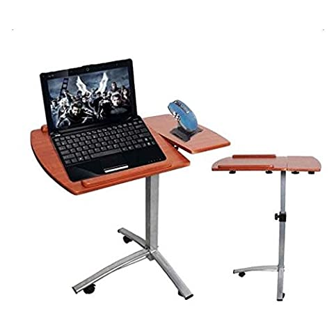 Marketworldcup-Angle & Height Adjustable Rolling Laptop Desk Cart Over Bed Hospital Table Stand