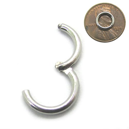 - NewkeepsR 16G 6mm(1/4'') 316L Surgical Steel Septum Hinged Clicker Segment Nose Helix Daith Cartilage Tragus Lobe Snug Rook Orbital Rings