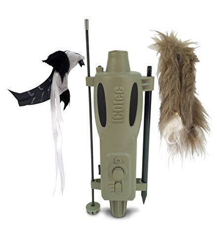 ICOtec PD200 Stand Alone Predator Decoy – Lightweight, Compact, and Quiet – Includes Speed Dial, Intermittent Motion, LED Lights, and 2 Quick Change Toppers by Icotec