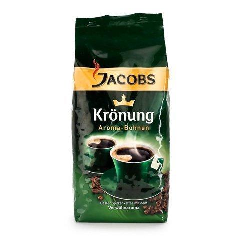 Jacobs Kroenung Aroma-Bohnen (Kroenung Whole Bean Coffee), 17.6-Ounce Vacuum Packs (Pack of 4) -