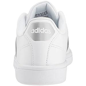 adidas Neo Women's CF Advantage Sneaker, Ftwr White, Silver Met, Core Black, 7.5 M US