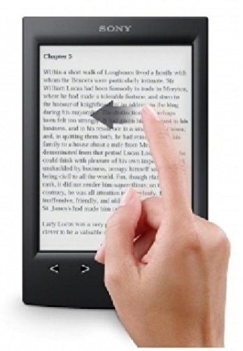 Sony PRS-T2 6'' Touchscreen Digital eBook Reader w/E-Ink Technology, Built-in Wi-Fi & microSD Card Slot (Black)