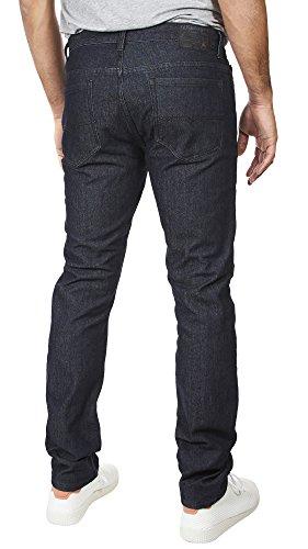 VINTAGE GENES 1891 Mens Stretch Skinny Washed Denim Jeans, Dark Enzyme Blue 34x32 by VINTAGE GENES (Image #3)'