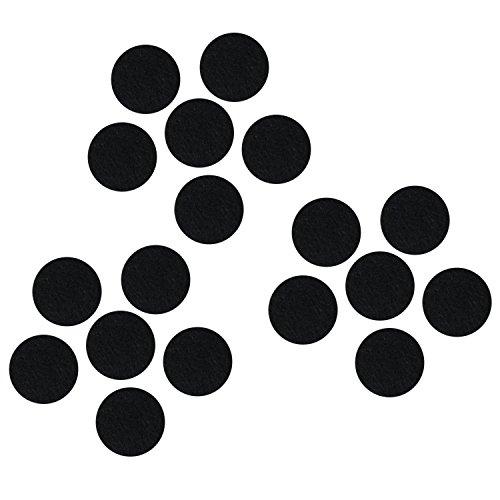 Black Adhesive Felt Circles,Embellishments Felt Scrapbooking Die Cut,DIY Projects,(100 Count (Adhesive Embellishments Felt)