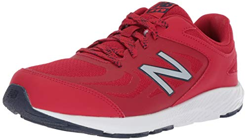 New Balance Boys' 519v1 Running Shoe Chili Pepper/Nubuck Scarlet 12 W US Little Kid