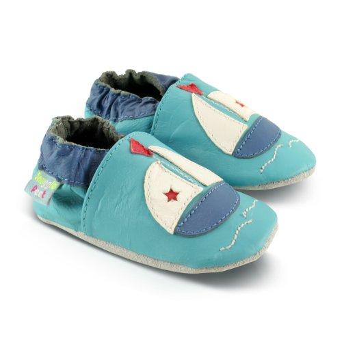 Snuggle Feet - Suaves Zapatos De Cuero Del Bebé barquito (6-12 meses)