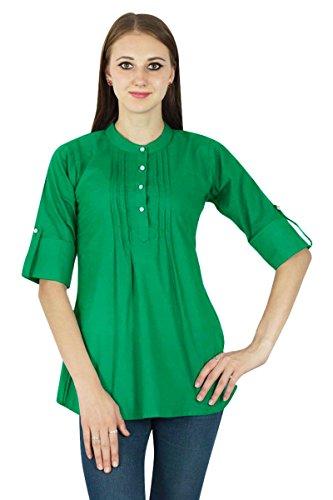pour Vtements Wear Casual Fonc Tunique Top Summer Solide Boho Vert Dress UYAxn0EqZZ
