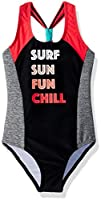Big Chill Girls' Big SURF Sun Fun 1PC, Diva Pink, 10/12