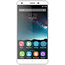 Original Oukitel K6000 Gesture Unlock 2.5D Curvied Glass Screen 5.5inch Invtepy® 13.0MP+5.0MP Camera MT6735p Quad-Core Unlocked Smartphone 2G+16G 6000mAh Battery Android 5.1 (Silver grey)