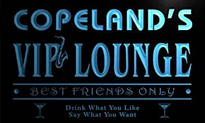 qi1445-b COPELAND's VIP Lounge Club Cocktails Neon Beer Sign
