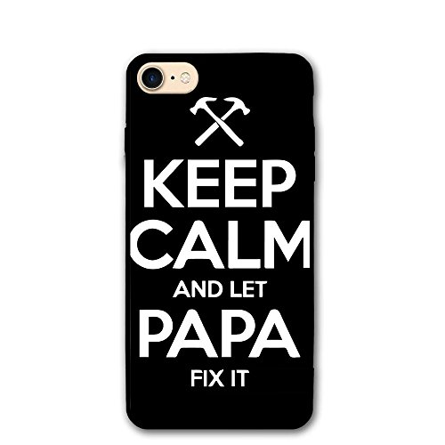 ZhiqianDF Keep Calm And Let Papa Fix It IPhone 8 Case 4.7 Enhanced Grip Premium Scratch Resistant Protective Cases Hard PC Back Cover For IPhone - You Fix On Eyeglasses Scratches Can