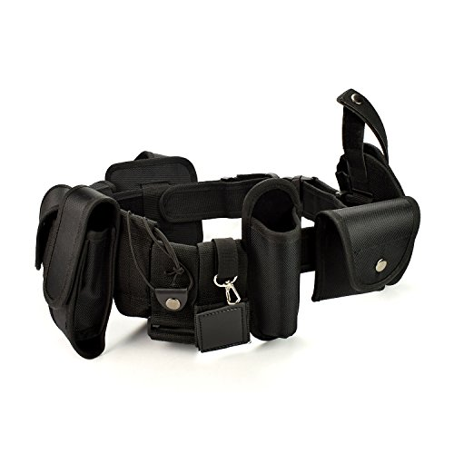 Military Tactical Belt Pouches Police Security Guard Equipment Duty Belt Set for Law Enforcement (Officer Military Magazine)