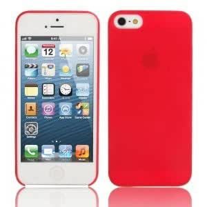 Ultra-thin ( 0.3mm ) Dull Polish Protective Case for iPhone 5/5S Red