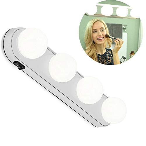 Leegoal LED Vanity Mirror Lights, Vanity Make Up Light Super Bright with 4 LED Bulbs Cordless Design Battery Powered for Bathroom, Makeup Dressing Table -