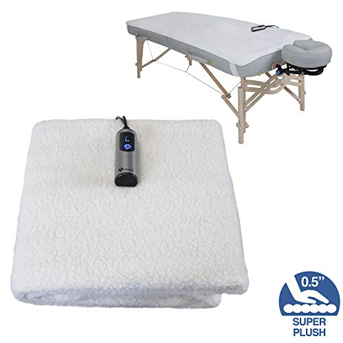 EARTHLITE Massage Table Warmer & Fleece Pad (2 in 1) - 3 Heat Settings, Cozy 0.5