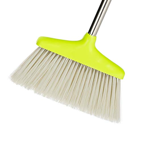 BristleComb Broom and Dustpan Set - Variable Handle Length Broom and Dustpan - Includes: Hand Brush and Dustpan Combo - Lightweight and Upright Stand for Cleaning Your Kitchen, Home, and Lobby (Green) by JFB Home Products (Image #4)