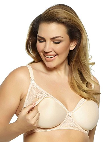 - Paramour by Felina Women's Carol Space Pad and Lace Nursing Mom Bra 3-Colors